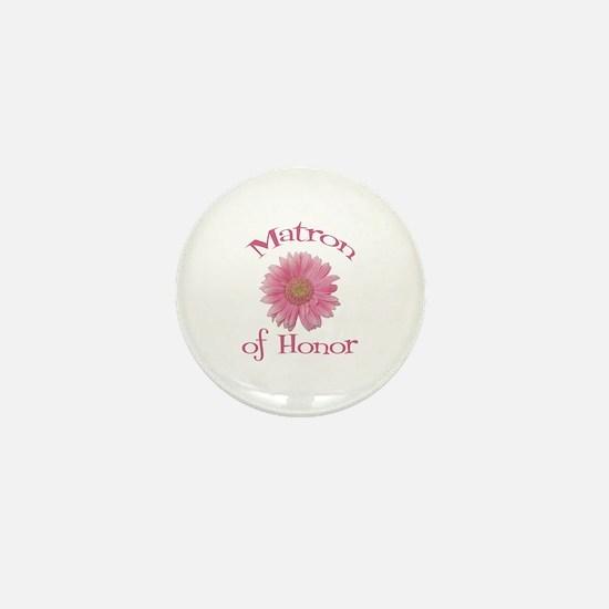 Daisy Matron of Honor Mini Button