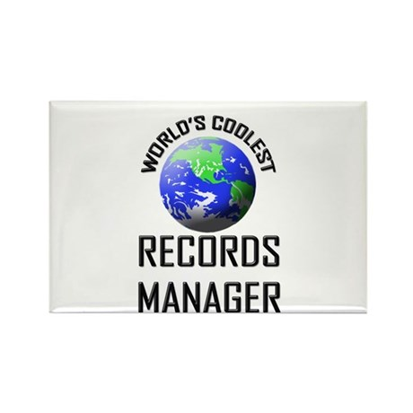 World's Coolest RECORDS MANAGER Rectangle Magnet