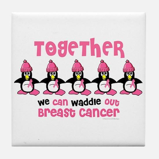 Winter Penguin 4 (BC) Tile Coaster