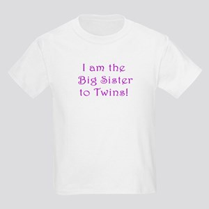 I am the Big Sister to Twins! Kids Light T-Shirt