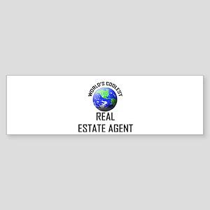 World's Coolest REAL ESTATE AGENT Bumper Sticker