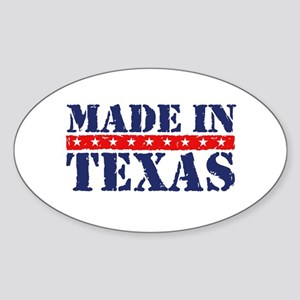 Made in Texas Oval Sticker