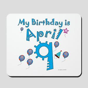 April 9th Birthday Mousepad