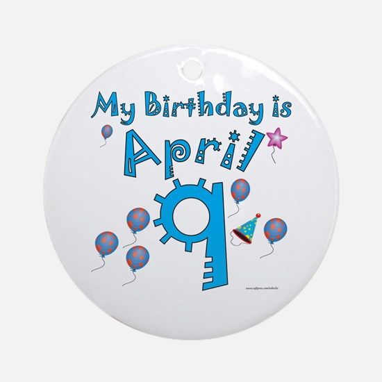 April 9th Birthday Ornament (Round)