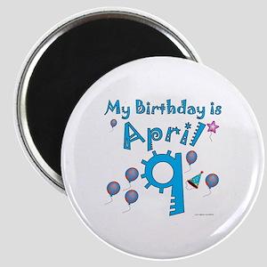 April 9th Birthday Magnet