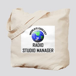 World's Coolest RADIO STUDIO MANAGER Tote Bag