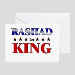 RASHAD for king Greeting Card