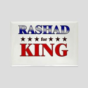 RASHAD for king Rectangle Magnet