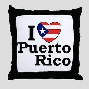 I Love Puerto Rico Throw Pillow