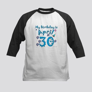 April 30th Birthday Kids Baseball Jersey
