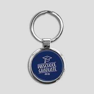 2018 Preschool Grad Round Keychain