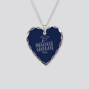 2018 Preschool Grad Necklace Heart Charm