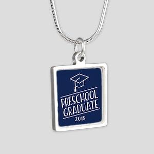 2018 Preschool Grad Silver Square Necklace