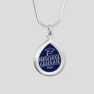 2018 Preschool Grad Silver Teardrop Necklace