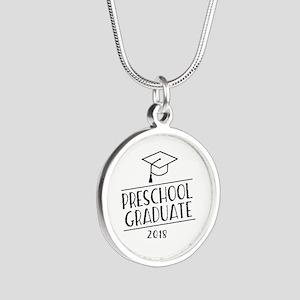 2018 Preschool Grad Silver Round Necklace