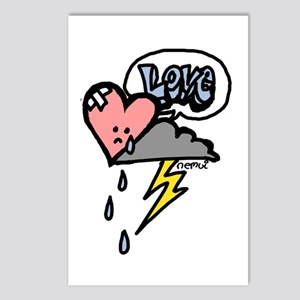 sad heart Postcards (Package of 8)