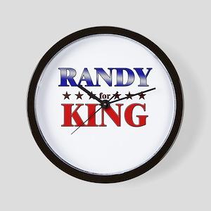 RANDY for king Wall Clock