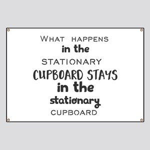 What happens in the stationary cupboard sta Banner