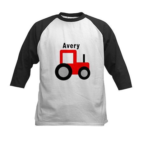 Avery - Red Tractor Kids Baseball Jersey