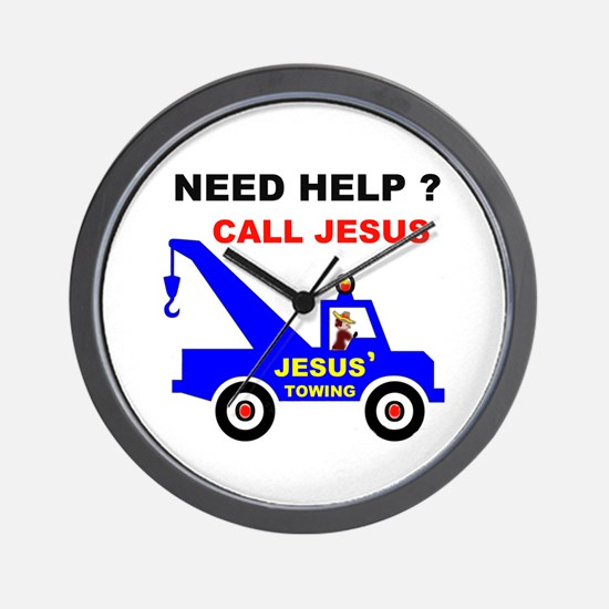 JESUS TOWING Wall Clock
