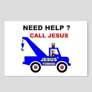 JESUS TOWING Postcards (Package of 8)