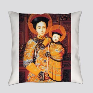 Our Lady of China Blessed Chinese Everyday Pillow