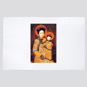 Our Lady of China Blessed Chinese Sain 4' x 6' Rug