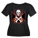 X Women's Plus Size Scoop Neck Dark T-Shirt