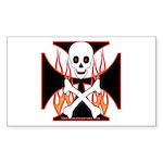 X Rectangle Sticker