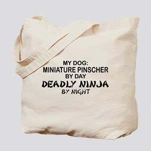Min Pin 2 Deadly Ninja Tote Bag
