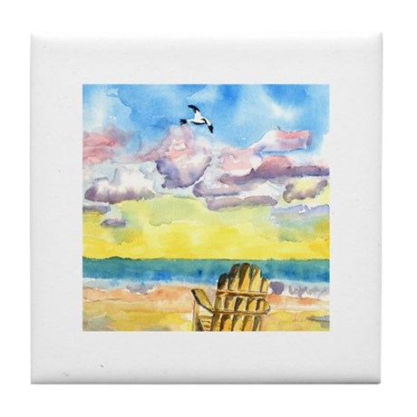 Beach Chair Tile Coaster