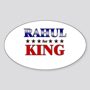 RAHUL for king Oval Sticker