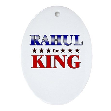 RAHUL for king Oval Ornament