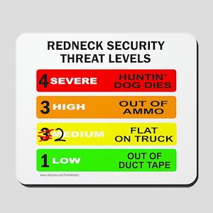 REDNECK SECURITY THREAT Mousepad
