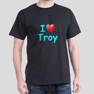 I Love Troy (Lt Blue) Dark T-Shirt