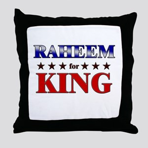 RAHEEM for king Throw Pillow