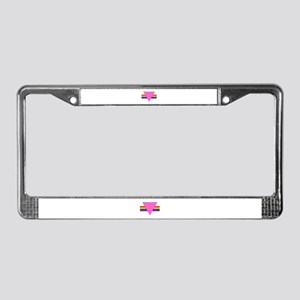 P.T.B.: License Plate Frame (black edge triangles)