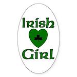 Irish Girl Oval Sticker