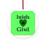 Irish Girl Ornament (Round)