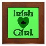 Irish Girl Framed Tile