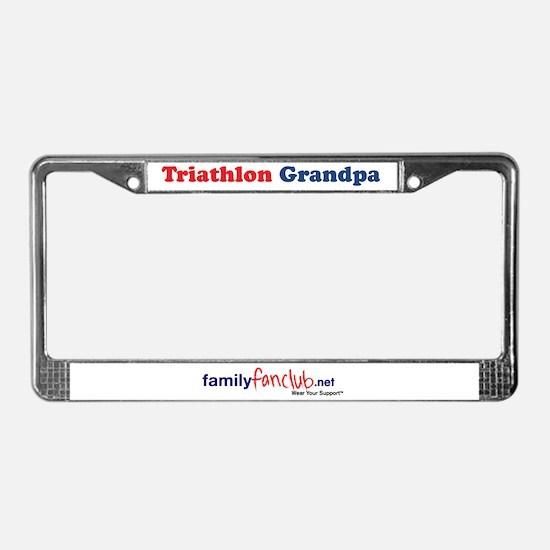 Triathlon Grandpa License Plate Frame