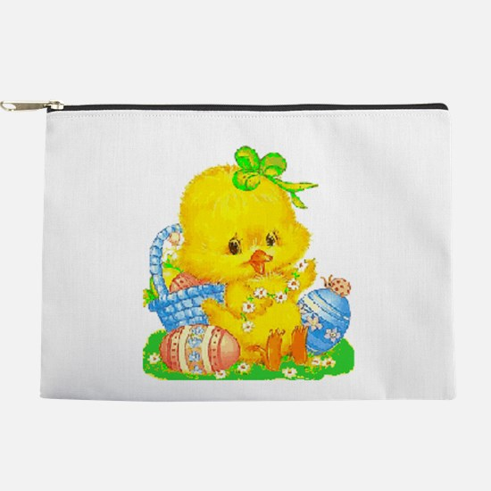 Vintage Cute Easter Duckling And Egg Makeup Bag