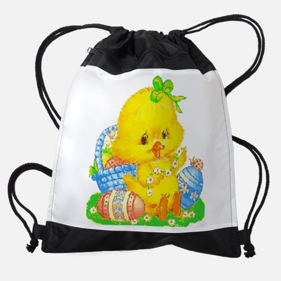 Vintage Cute Easter Duckling And Drawstring Bag