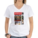 Trashy Penguin Tabloid Women's V-Neck T-Shirt