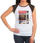 Trashy Penguin Tabloid Women's Cap Sleeve T-Shirt