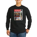 Trashy Penguin Tabloid Long Sleeve Dark T-Shirt