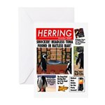 Trashy Penguin Tabloid Greeting Cards (Pk of 10)