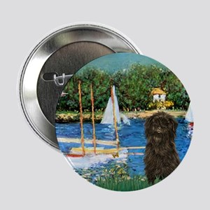 Sailboats & Affenpinscher Button