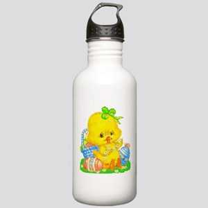 Vintage Cute Easter Duckling and Easter Egg Water