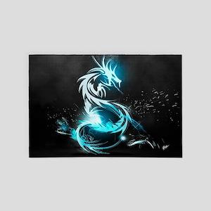 Glowing Dragon 4' x 6' Rug